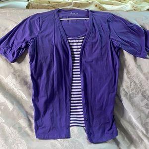 Women's Denim & Co. 2 in 1 shirt
